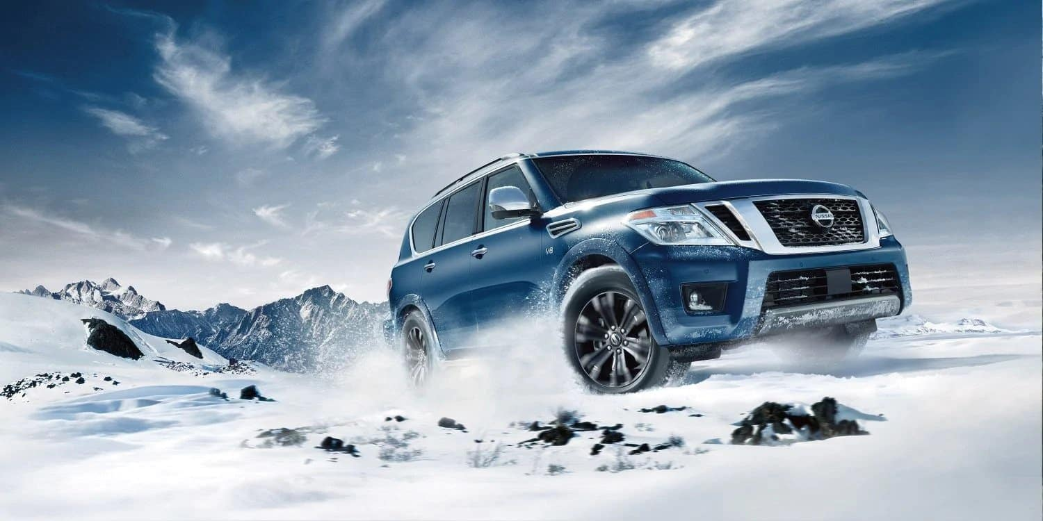 2019 Nissan Armada in the snow