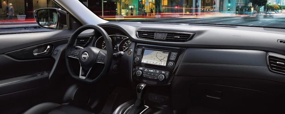 2019 Nissan Rogue dash with navigation system