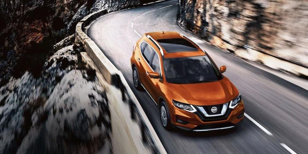 2019 Nissan Rogue on a winding road