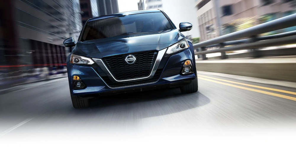 2019 Nissan Altima on the road