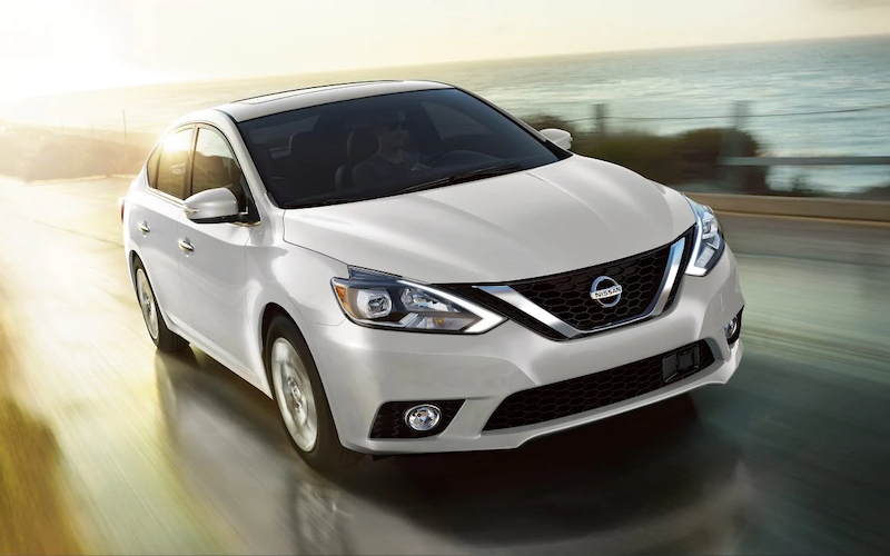 2019 Nissan Sentra driving on the road
