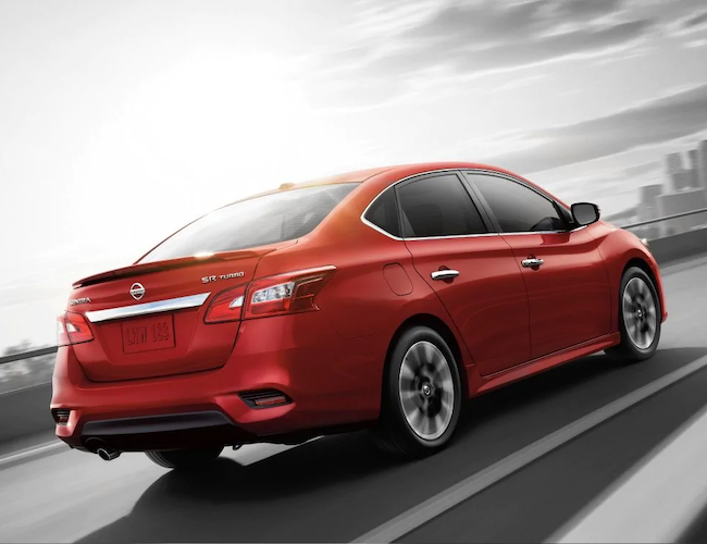 2019 Nissan Sentra on the road