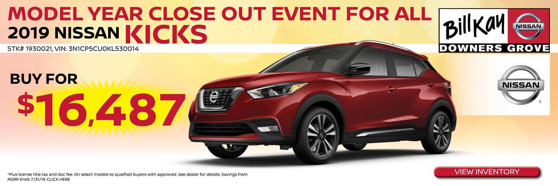 Buy a 2019 Nissan Kicks for $16487
