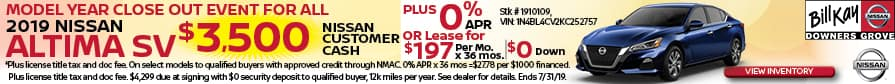 Get $3500 Nissan Customer Cash plus 0% APR or Lease for $197/mo. for 36 mos.
