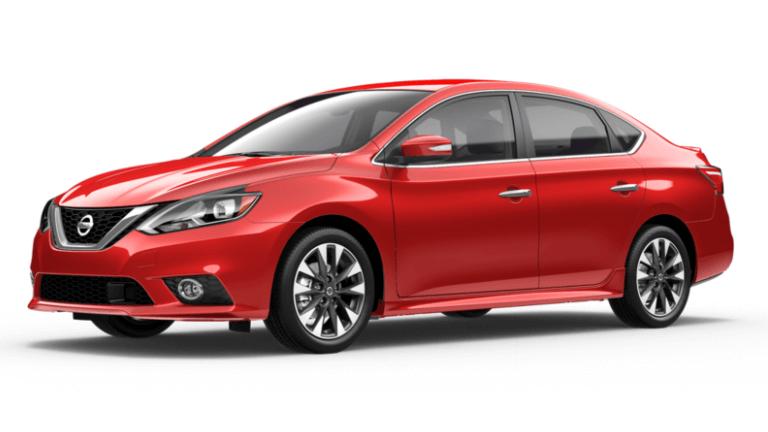 Red 2019 Nissan Sentra SR