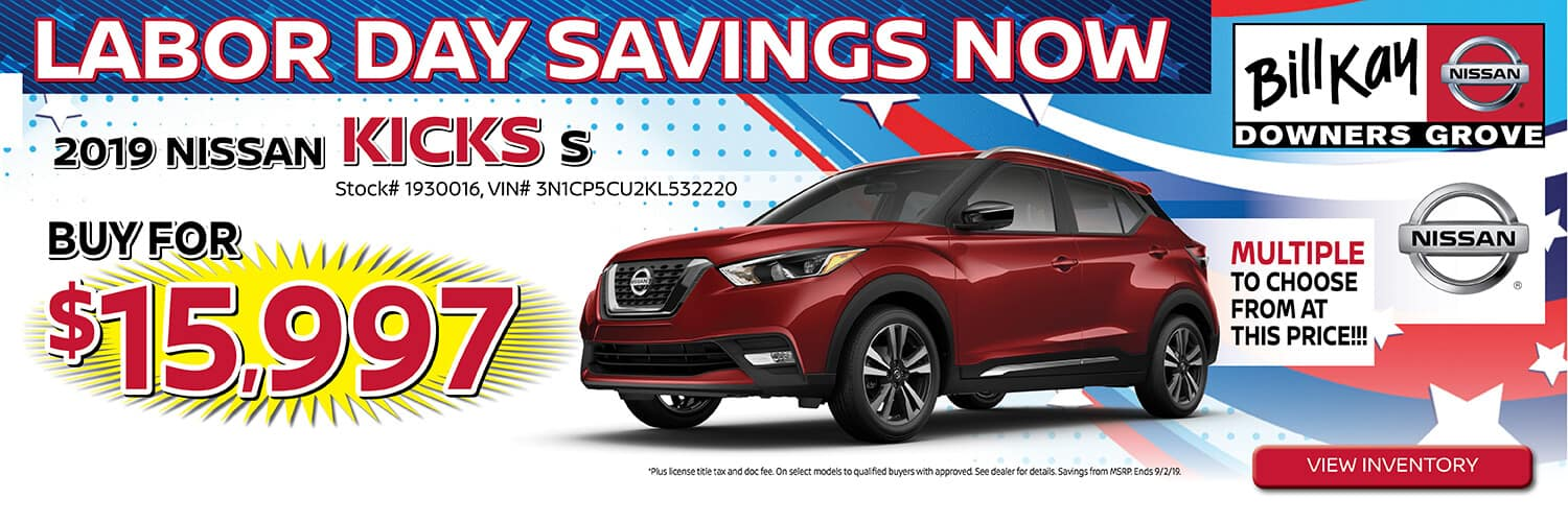 Buy a 2019 Nissan Kicks for $15,997