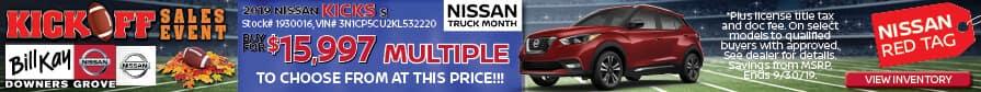 Buy a 2019 Nissan Kicks for $15,997