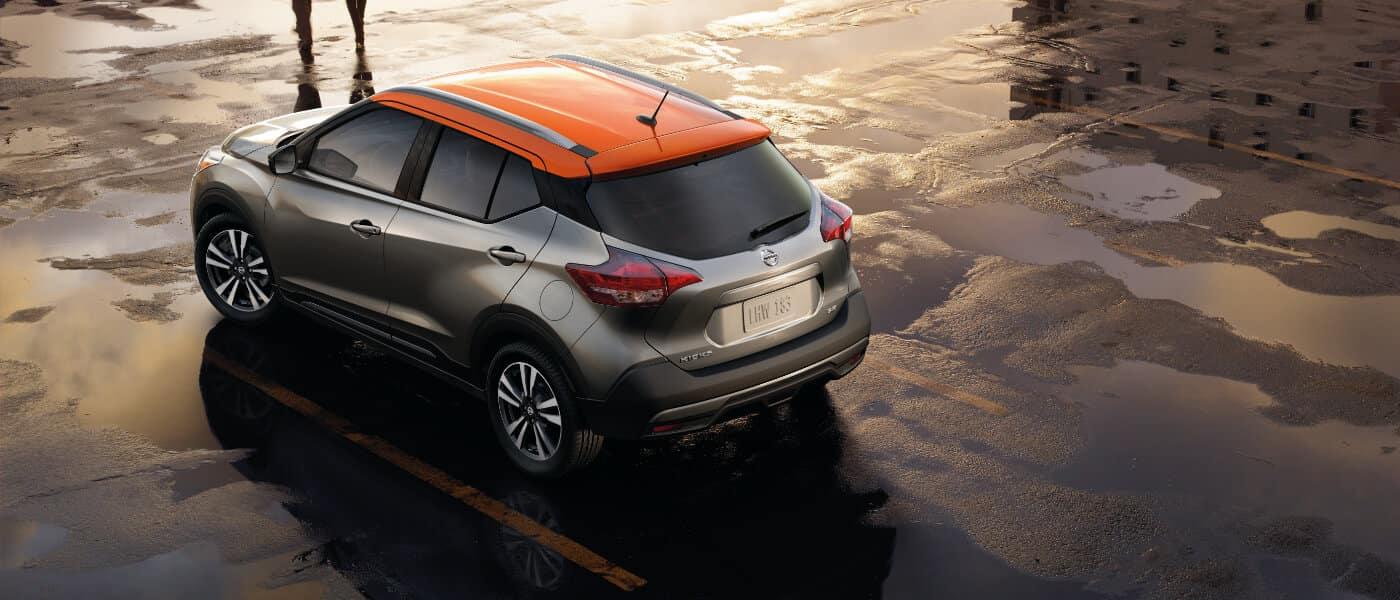 Grey 2019 Nissan Kicks in Parking Garage