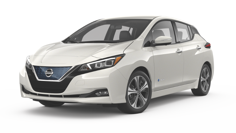 2019 Nissan Leaf Jellybean White