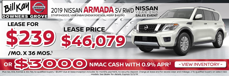 Lease a 2019 Nissan Armada SV for $239/mo.