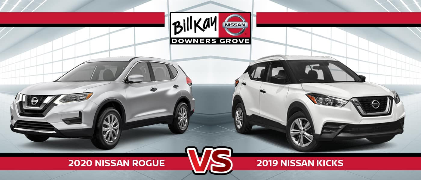 2020 Nissan Rogue vs. 2019 Nissan Kicks