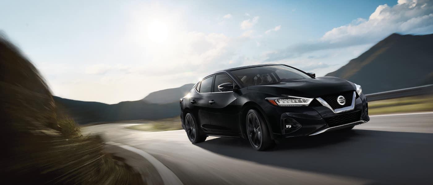 Black 2020 Nissan Maxima on road
