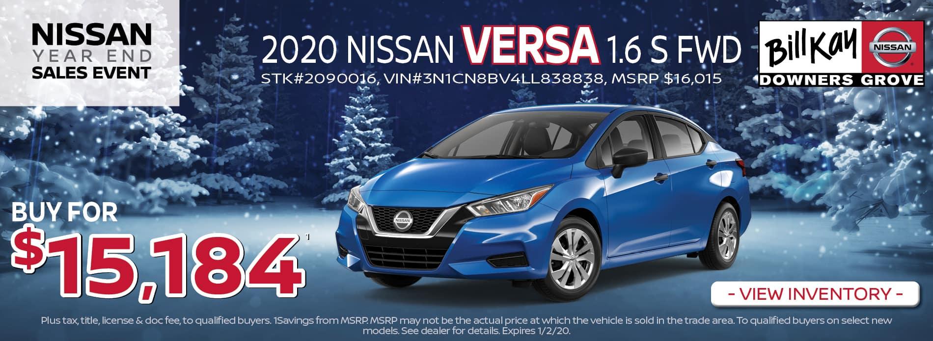 2020 Nissan Versa 1.6