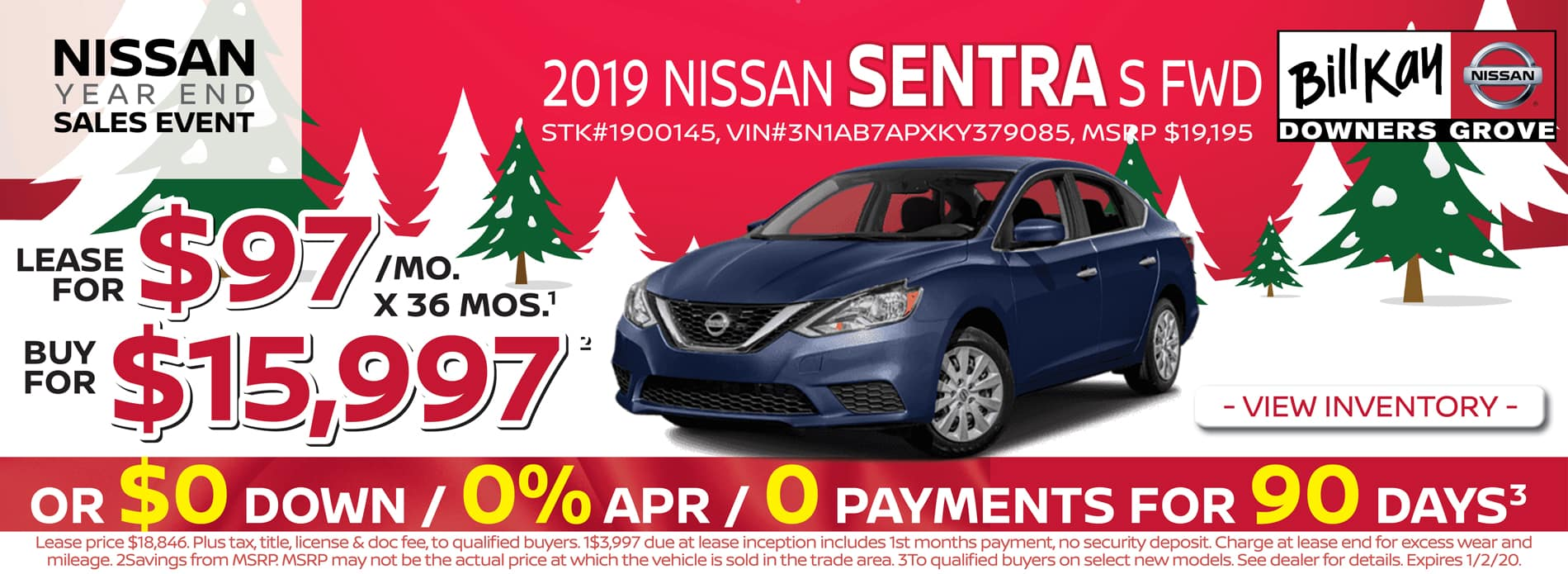 Buy a 2019 Nissan Sentra for $14,997