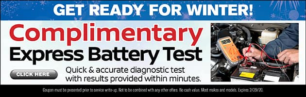 Complimentary Express Battery Test