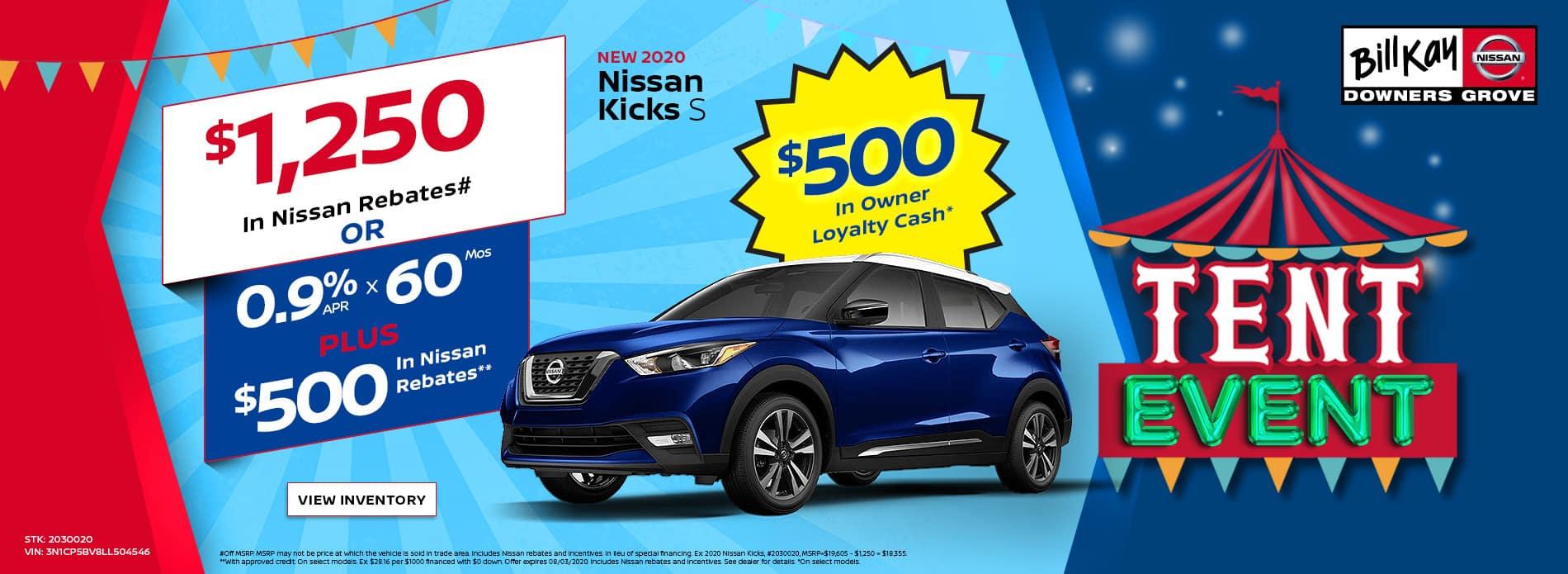 2019 and 2020 Nissan Kicks