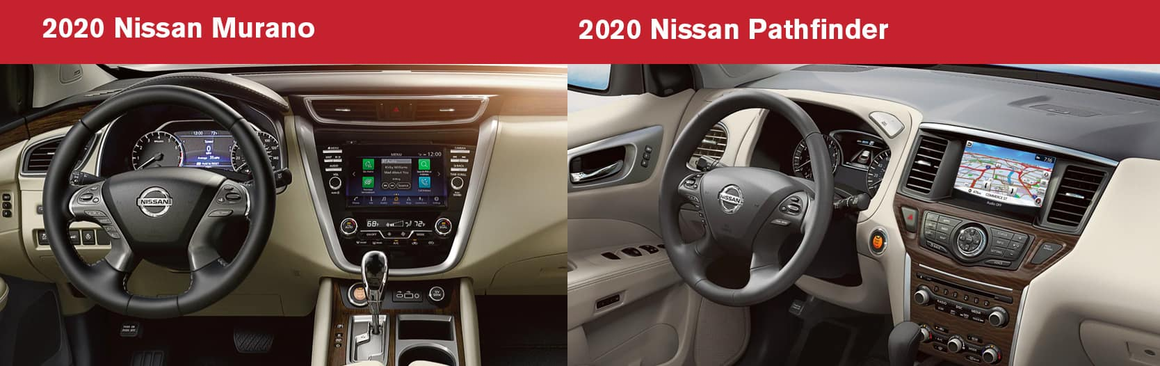 2020 Murano vs 2020 Pathfinder Tech and Safety