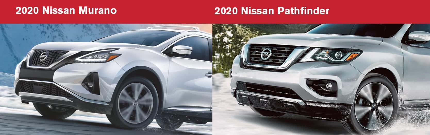 2020 Nissan Murano vs 2020 Nissan Pathfinder Performance