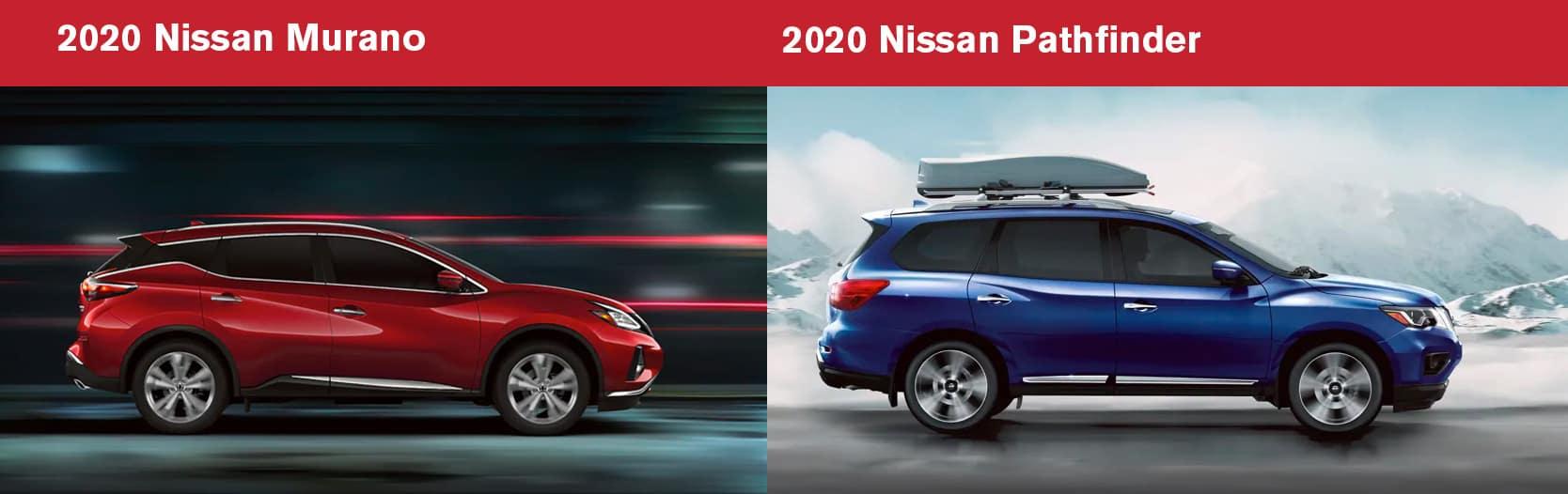 2020 Nissan Murano vs 2020 Nissan Pathfinder