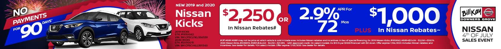 2020 and 2019 Nissan Kicks