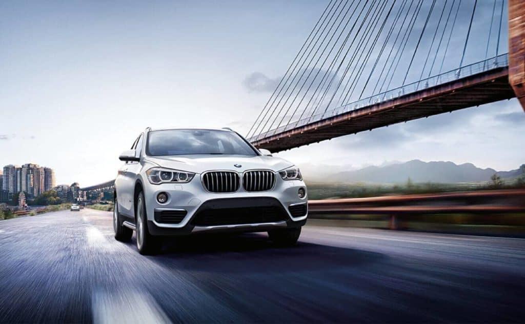 2018 BMW X1 passing bridge