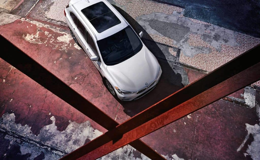 2018 BMW X1 aerial view