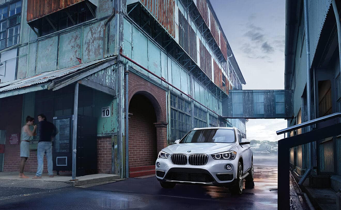 2018 BMW X1 white exterior