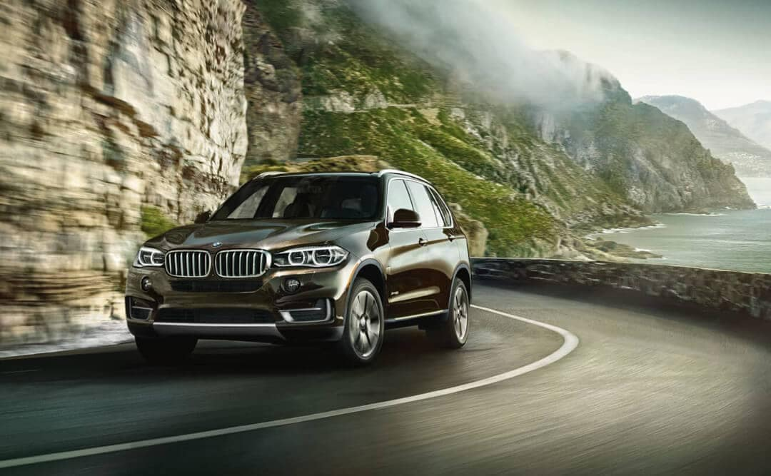 2018 BMW X5 on a winding mountain pass