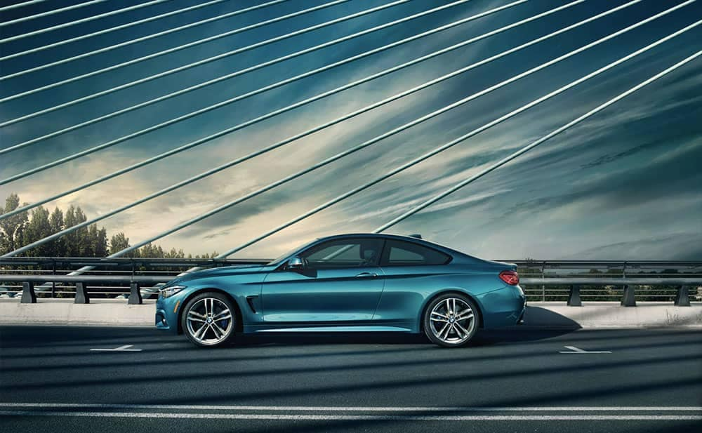 2019 BMW 4-Series crossing suspension bridge