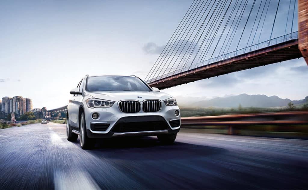 2018 BMW X1 on the bridge