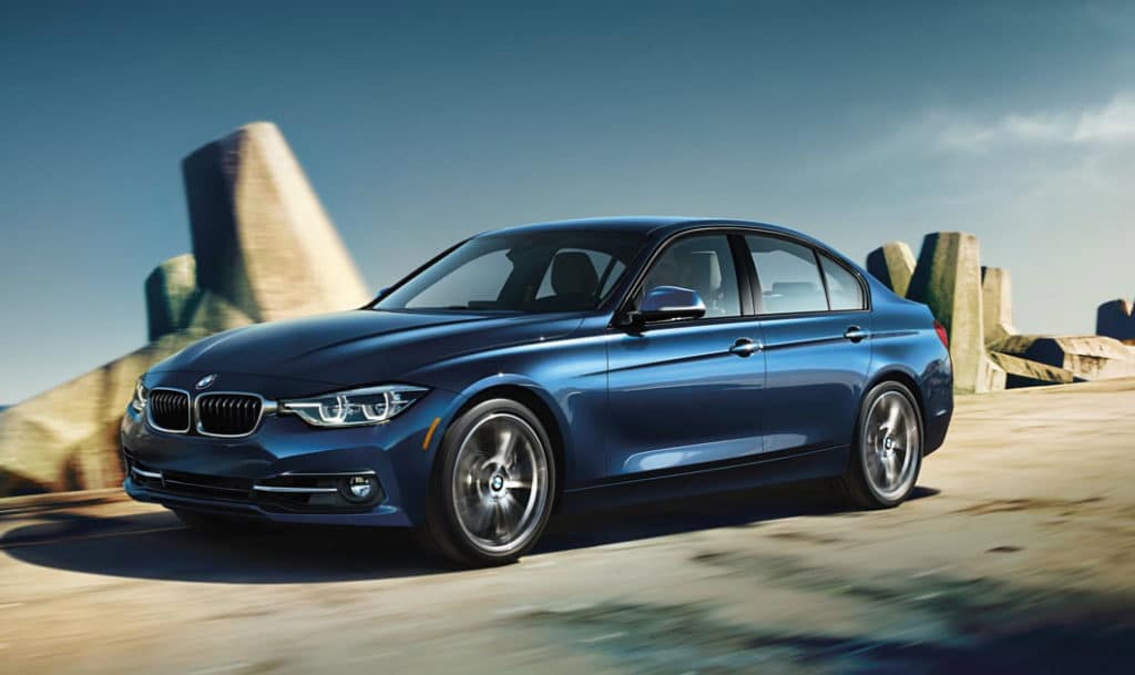 2019 BMW 3 Series on the highway