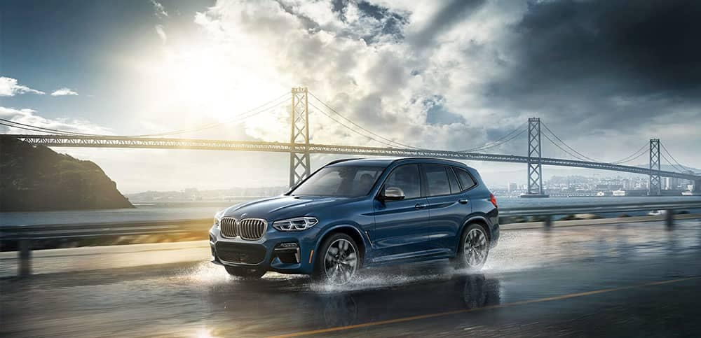 2019 BMW X3 highway driving