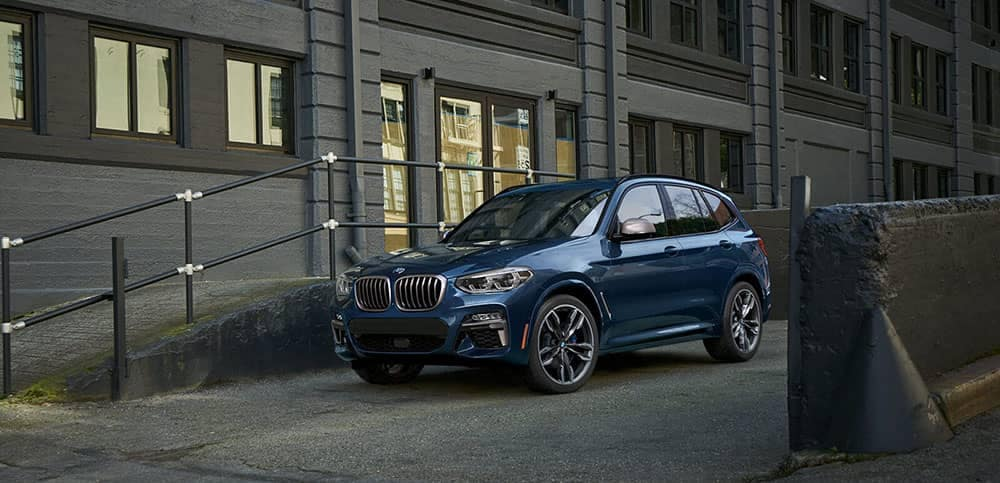 2019 BMW X3 parked on a city street