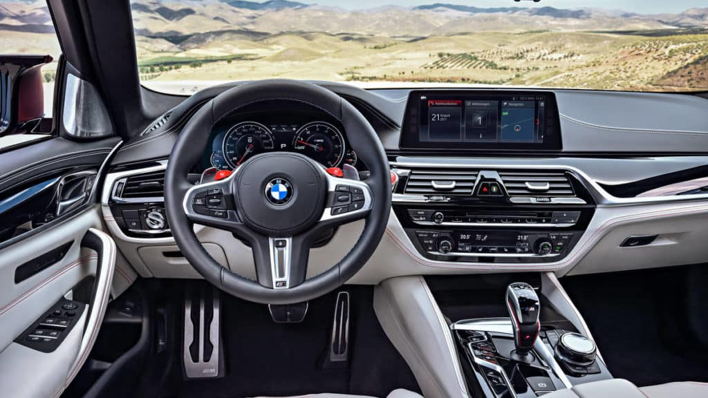 2018 BMW M5 Interior steering wheel