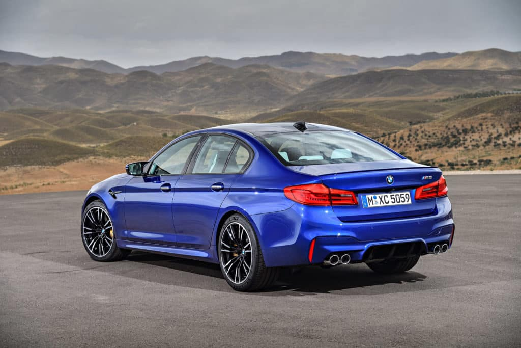 2018 BMW M5 picture of rear