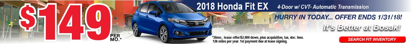 Fit January Offer Bosak Honda Highland
