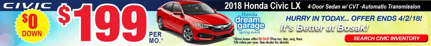 2018 Civic LX Lease Offer
