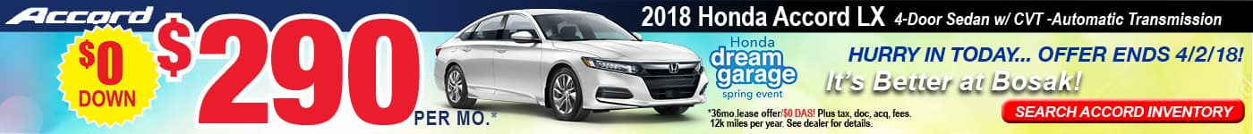 2018 Accord LX Lease Offer