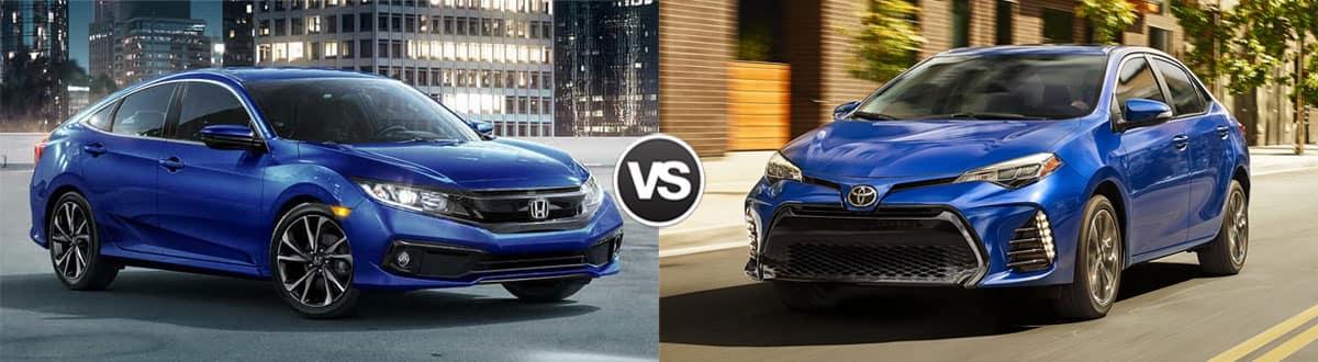 Corolla Vs Civic >> Compare 2019 Honda Civic Vs 2019 Toyota Corolla Highland In