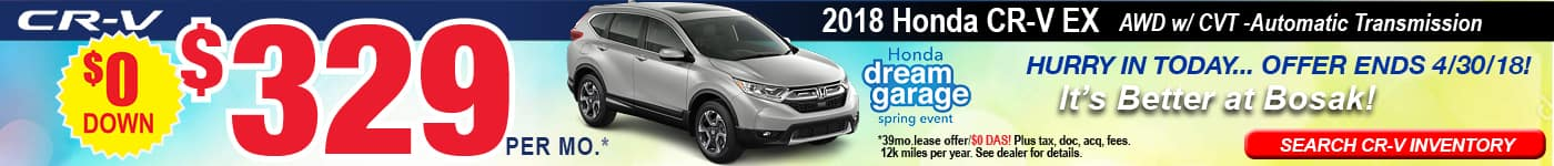 CR-V Bosak Honda Ad April