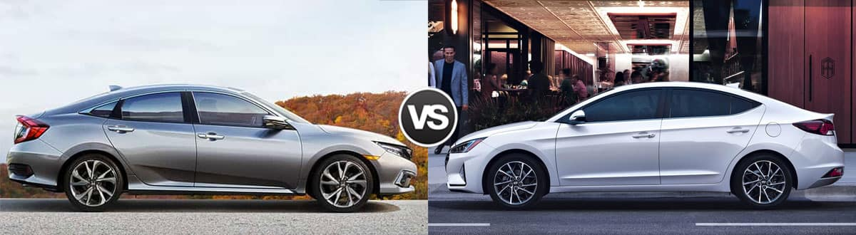 2019 Honda Civic vs 2019 Hyundai Elantra