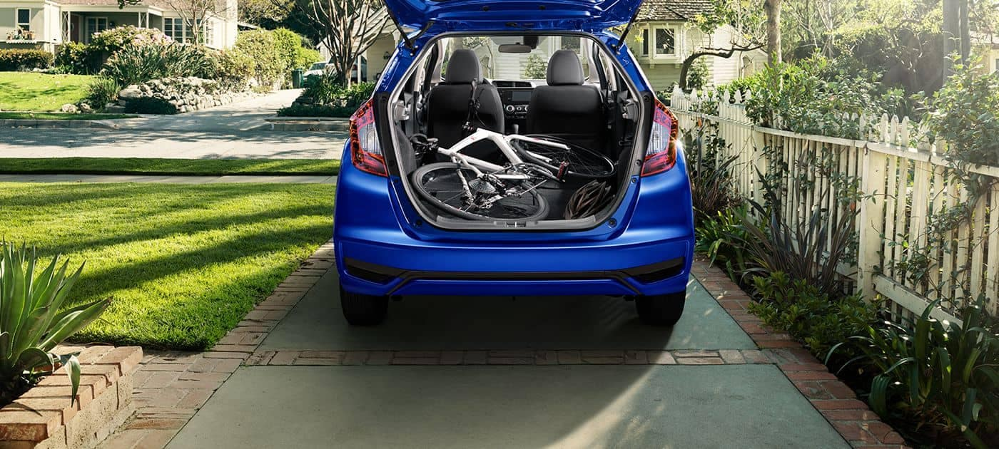 2019 Honda Fit with Bike in back