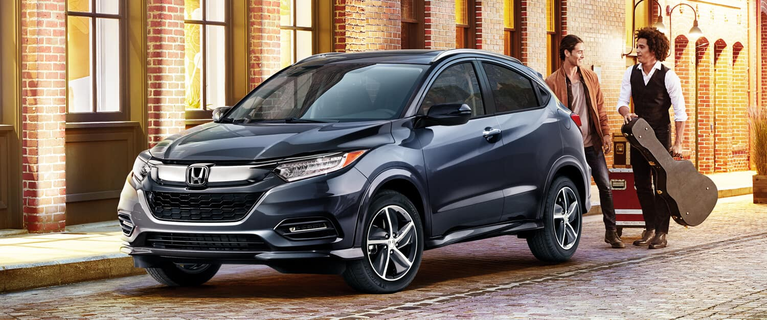 2019 Honda HR-V Exterior Front Angle Driver Side City Night