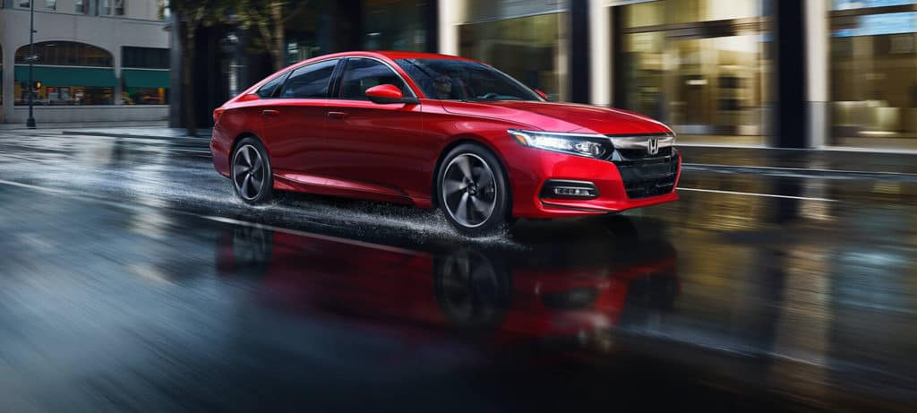 2019 Honda Accord Sedan Exterior Front Angle Passenger Side Rain