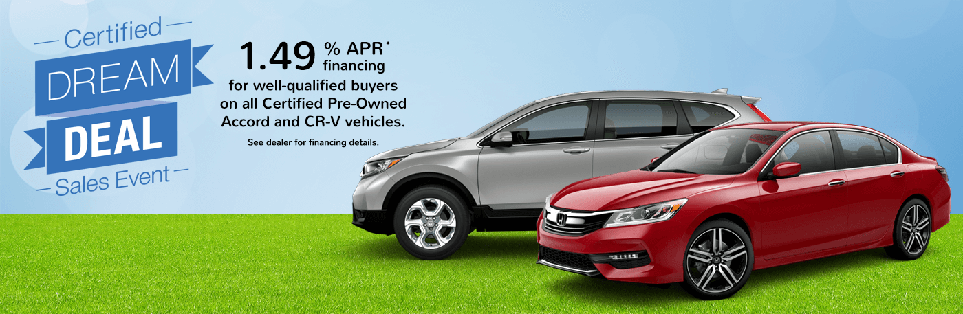Central Illinois Honda Certified Dream Deal Sales Event Banner