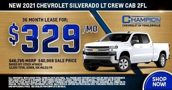2021 Chevy Silverado LT 2FL September Lease Offer