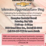 Women's Appreciation Day at Champion Chevrolet of Howell, Michigan!