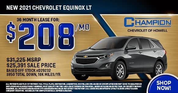 2021 Chevy Equinox LT September Lease Offer