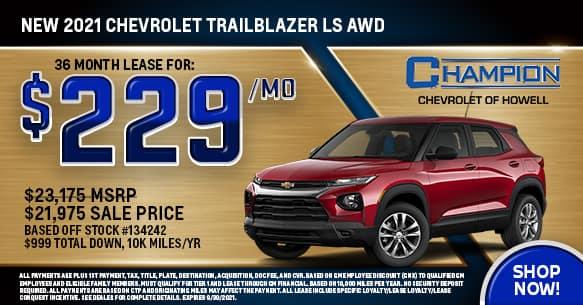 2021 Chevy Trailblazer LS AWD September Lease Offer
