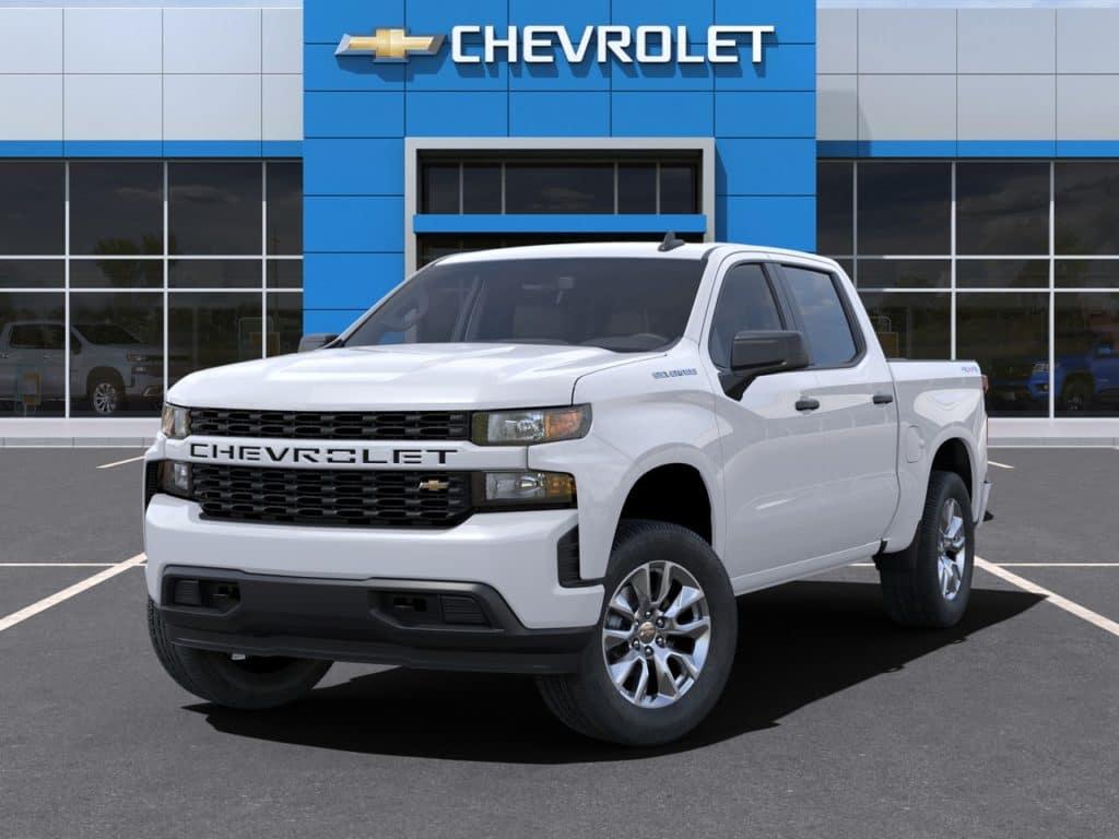2021 Chevy Silverado Custom Crew Cab 4WD July Lease Offer